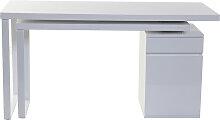 Design-Schreibtisch verstellbar Weiß glänzend