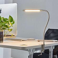 Design Schreibtischleuchte Aluminium mit Klemme
