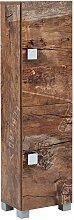 Design Seitenschrank in Holzpaletten Optik Bad