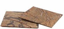 Design Servierplatte aus Marmor, quadratisch