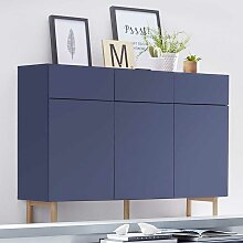 Design Sideboard in Blau Grifflos