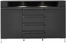 Design Sideboard in Grau LED Beleuchtung