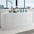 Design Sideboard mit Linien Muster Weiß