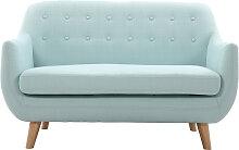 Design-Sofa 2 Plätze Meeresgrün YNOK