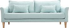 Design-Sofa 3 Plätze Meeresgrün KATE