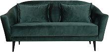 Design-Sofa 3 Sitzplätze waldgrünes Velours