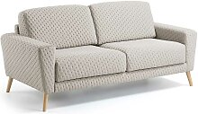 Design Sofa in Beige Webstoff