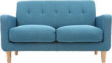 Design-Sofa skandinavisch blaugrüner Stoff