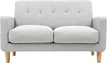 Design-Sofa skandinavisch hellgrauer Stoff