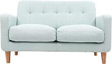 Design-Sofa skandinavisch lagunenblauer Stoff