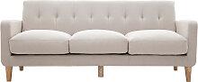 Design-Sofa skandinavisch naturfarbener Stoff