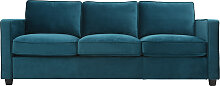 Design-Sofa Velours Smaragdgrün 3-Sitzer BROOKLYN