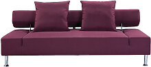 Design-Sofa verstellbar 3 Sitzplätze Pflaume