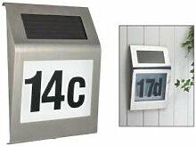 Design Solar Haus Nummer Hausnummer