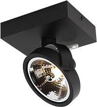 Design Spot schwarz verstellbar 1-flammig inkl.