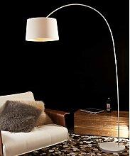 Design Stehlampe in Weiß 205 cm hoch
