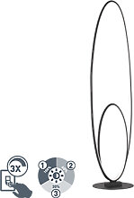 Design Stehleuchte schwarz inkl. LED 3-stufig