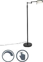 Design Stehleuchte schwarz inkl. LED mit Touch