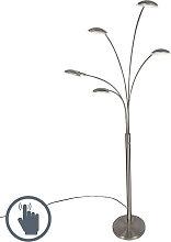 Design Stehleuchte Stahl 5-flammig inkl. LED -