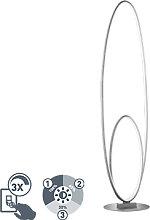 Design Stehleuchte Stahl inkl. LED 3-stufig