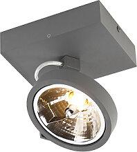 Design Strahler grau verstellbar 1-Licht inkl. LED