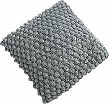 Design Strick Kissen grau 45cm Zierkissen in Handarbeit gestrickt Strick Kissen Dekokissen Dekoration Wohnaccessoire Accessoire