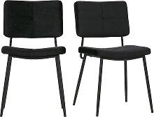 Design-Stühle Samt Schwarz (2er-Set) GAB