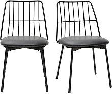 Design-Stühle schwarzes Metall mit Kissen
