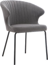 Design-Stuhl aus dunkelgrauem Stoff REQUIEM