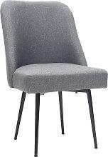 Design-Stuhl dunkelgrauer Stoff und Metallbeine
