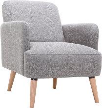 Design-Stuhl Hellgrau und Holzbeine ISKO