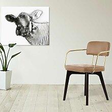 Design Stuhl in Beige Kunstleder Armlehnen