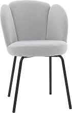 Design-Stuhl in hellgrauem Velours FLOS