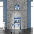 Design-Stuhl in-/outdoor, Blau