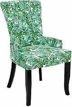 Design Stuhl PARADIES mehrfarbig florales Botanik Muster Armlehnenstuhl Esszimmerstuhl Sessel