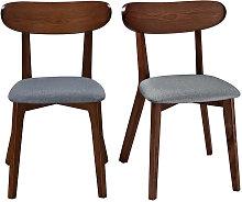 Design-Stuhl Vintage Grau mit Beinen aus