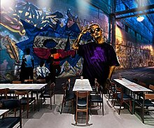 Design Tapete 3D Tapete Wandbild Graffiti Graffiti