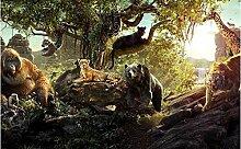 Design Tapete 3D Tapete Wandbild Tier Tierwelt