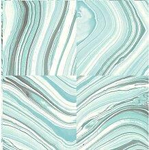 Design-Tapete Metamorphis Teal Marble 550 cm L x