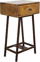 Design Telefontisch aus Holz und Metall Loft Design