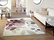 Design Teppich aubergine 160 x 230 cm