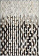 Design Teppich aus kurzem Echtfell Patchworkmuster