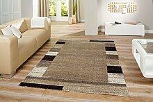 Design Teppich beige-grau 200 cm x 290 cm