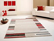 Design Teppich beige-rot 160 cm x 230 cm