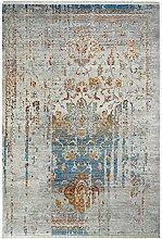 Design Teppich maschinengewebt blau ca. 80x150 cm