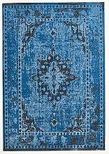 Design Teppich Vintage Used Antik blau 140 x 200 cm