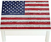 Design-Tisch Flag on the Wall B x H: 90cm x 55cm von Klebefieber®