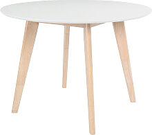 Design-Tisch LEENA Holz und Weiß