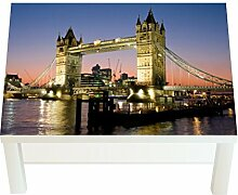 Design-Tisch London - Tower Bridge B x H: 90cm x 55cm von Klebefieber®