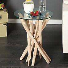 Design Tisch Madeira Beistelltisch Wohnzimmertisch